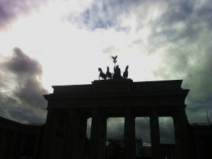 dramatic sky in Berlin on October 6, 2012