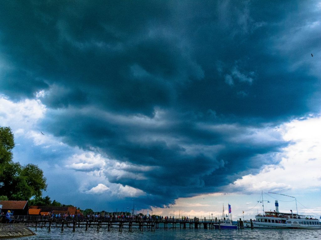 Shower Clouds in Bavaria. For some day there was at least rain for some minutes in Southern Germany